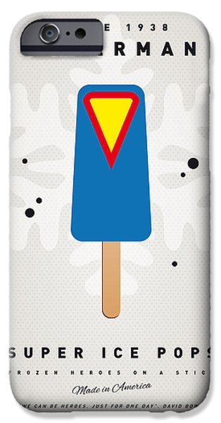 Superheroes iPhone 6 Case - My Superhero Ice Pop - Superman by Chungkong Art