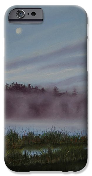 Morning Pastels iPhone Cases - Mystic Morning iPhone Case by Kathy Dolan