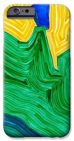 Nefertiti original painting iPhone Case by Sol Luckman