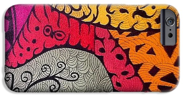 iPhone 6 Case - Nice Colors In A Doodling Designs I by Sandra Lira