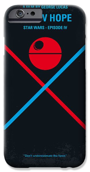 Star iPhone 6 Case - No080 My Star Wars Iv Movie Poster by Chungkong Art