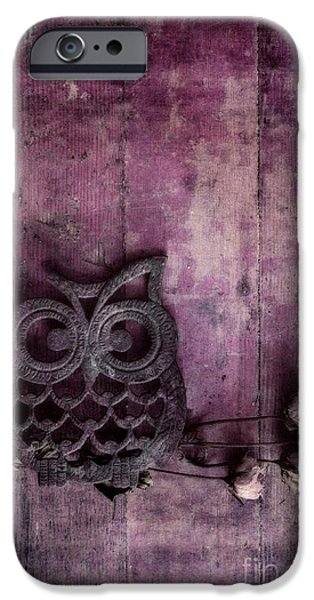 Rose iPhone Cases - Nocturnal In Pink iPhone Case by Priska Wettstein