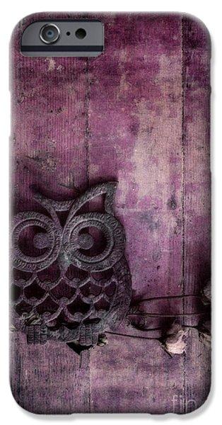 nocturnal in pink iPhone Case by Priska Wettstein