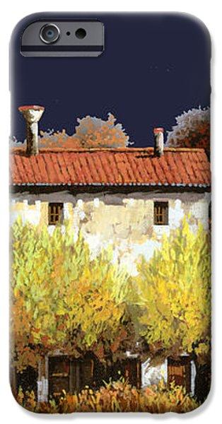 notte in campagna iPhone Case by Guido Borelli
