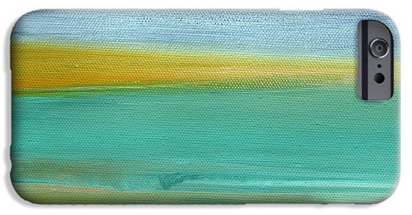 Contemporary iPhone 6 Case - Ocean Blue 3- Art By Linda Woods by Linda Woods