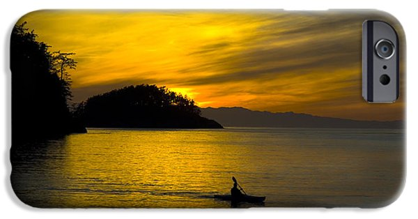 IPhone 6 Case featuring the photograph Ocean Sunset At Rosario Strait by Yulia Kazansky
