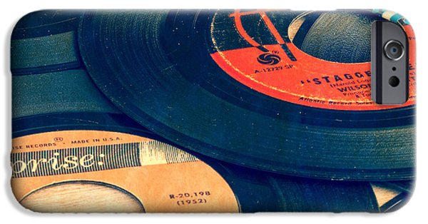 Retro iPhone 6 Case - Old 45 Records Square Format by Edward Fielding