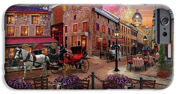IPhone 6 Case featuring the drawing Old Montreal by David M ( Maclean )
