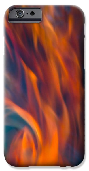 IPhone 6 Case featuring the photograph Orange Fire by Yulia Kazansky