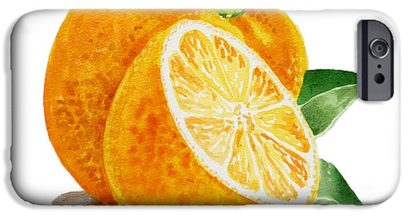Sour iPhone Cases - ArtZ Vitamins An Orange iPhone Case by Irina Sztukowski