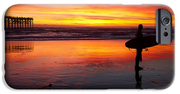 Pacific Beach Was On Fire Tonight IPhone 6 Case by Nathan Rupert
