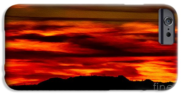 IPhone 6 Case featuring the photograph Painted Sky 34 by Mark Myhaver