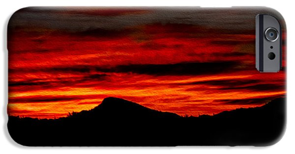 IPhone 6 Case featuring the photograph Painted Sky 45 by Mark Myhaver