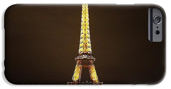 #paris #france #night #lights IPhone 6 Case by Luisa Azzolini