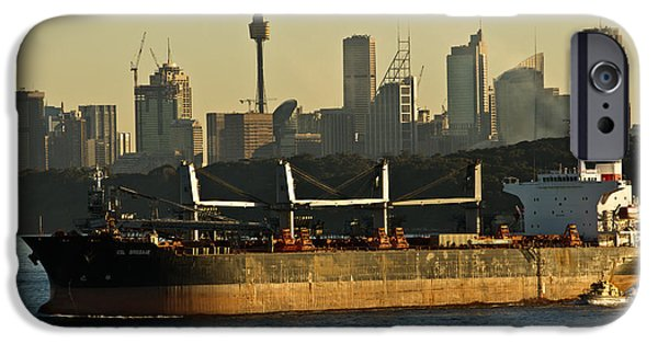 IPhone 6 Case featuring the photograph Passing Sydney In The Sunset by Miroslava Jurcik