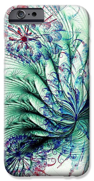 Anastasiya Mixed Media iPhone Cases - Peacock Tail iPhone Case by Anastasiya Malakhova