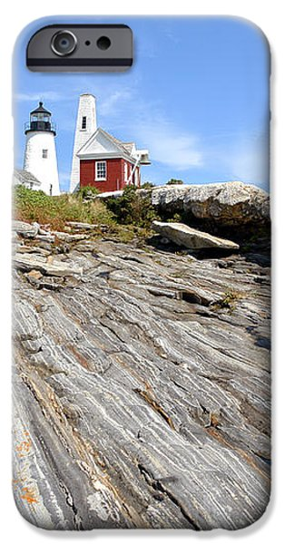 Pemaquid Point Lighthouse in Maine iPhone Case by Olivier Le Queinec
