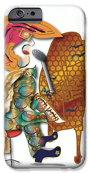 IPhone 6 Case featuring the digital art Piano Man by Marvin Blaine