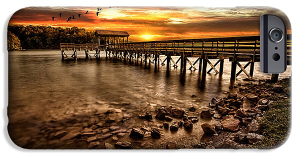 Lake iPhone 6 Case - Pier At Smith Mountain Lake by Joshua Minso