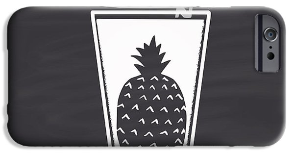 Smoothie iPhone 6 Case - Pineapple Juice Drawn In Chalk In A by Anat om
