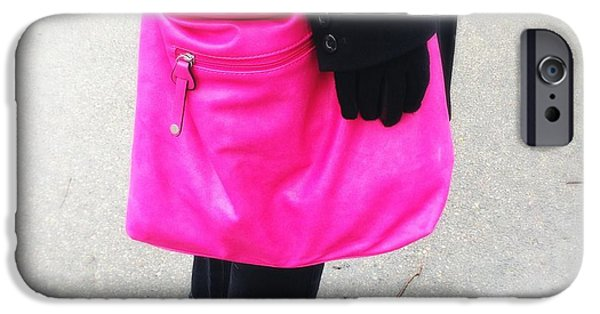 Bright iPhone 6 Case - Pink Shoulder Bag by Matthias Hauser