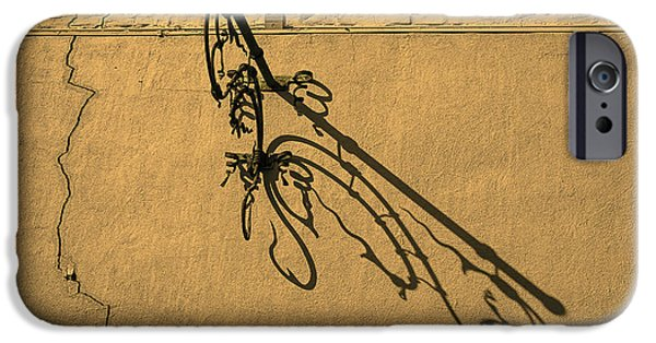 Ironwork iPhone 6 Case - Plant Hanger Shadow  by Garry Gay