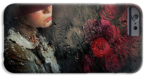 Red Rose iPhone 6 Case - Poetry by Adela Lia