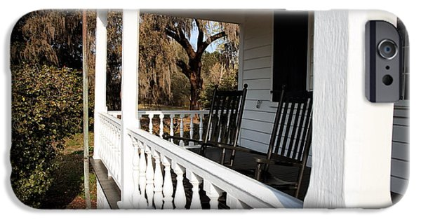 Historic Site iPhone Cases - Porch View iPhone Case by John Rizzuto