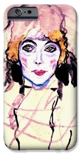 iPhone 6 Case - Portrait Of A Lady En Face After Gustav Klimt by Anna Porter