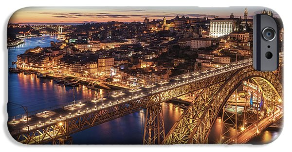 Ironwork iPhone 6 Case - Portugal - Porto Blue Hour by Jean Claude Castor