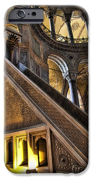 Best Sellers -  - Historic Site iPhone Cases - Pulpit in the Aya Sofia Museum in Istanbul  iPhone Case by David Smith