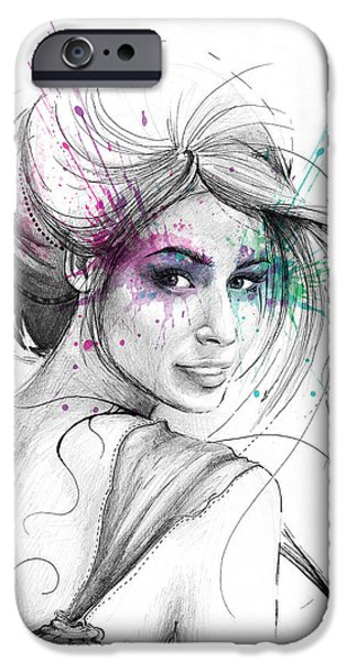 Colorful iPhone 6 Case - Queen Of Butterflies by Olga Shvartsur