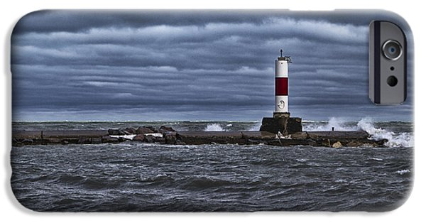 IPhone 6 Case featuring the photograph Raging Lake Michigan  by Ricky L Jones