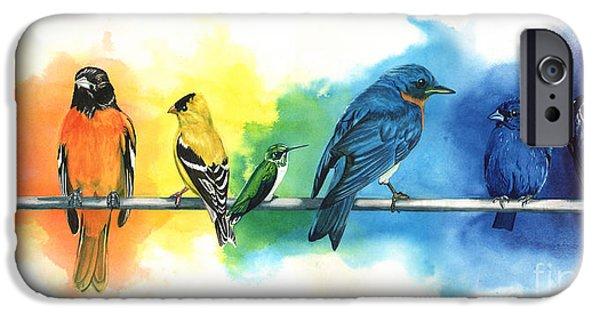 Colorful iPhone 6 Case - Rainbow Birds by Antony Galbraith