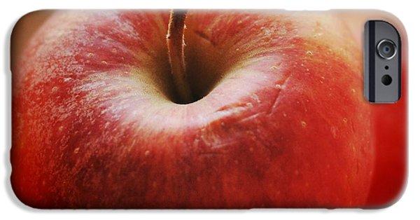 Orange iPhone 6 Case - Red Apple by Matthias Hauser