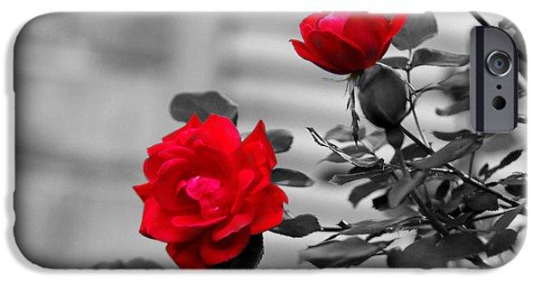 super popular 525b8 0479a Black And Red Rose iPhone 6 Cases | Fine Art America