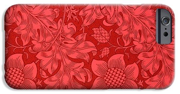 Red Sunflower Wallpaper Design, 1879 IPhone 6 Case