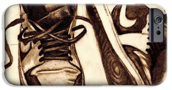 Michael Jordan iPhone Cases - Retro 1 iPhone Case by Dallas Roquemore