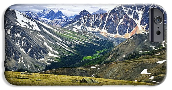 Mountain View iPhone Cases - Rocky Mountains in Jasper National Park iPhone Case by Elena Elisseeva
