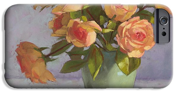 Rose Pastels iPhone Cases - Rose Bouquet iPhone Case by Sarah Blumenschein