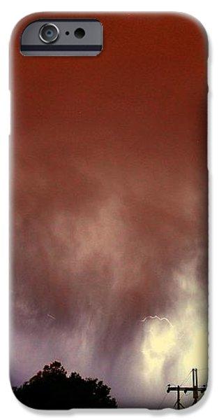Nebraskasc iPhone 6 Case - Rounds 2 3 Late Night Nebraska Storms by NebraskaSC