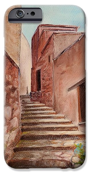 Village Pastels iPhone Cases - Roussillon Walk iPhone Case by Anastasiya Malakhova