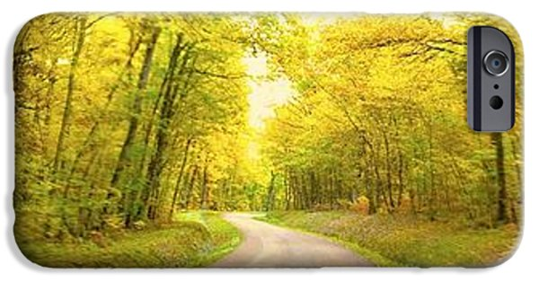 IPhone 6 Case featuring the photograph Route Dans La Foret Jaune by Marc Philippe Joly