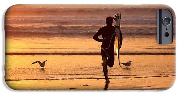 IPhone 6 Case featuring the photograph Running To Surf by Nathan Rupert