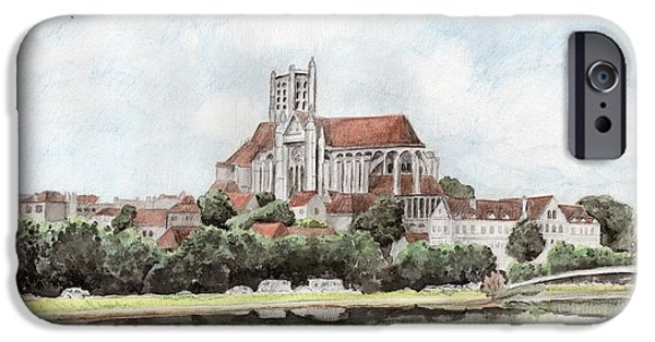 IPhone 6 Case featuring the painting Saint-etienne A Auxerre by Marc Philippe Joly