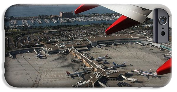San Diego Airport Plane Wheel IPhone 6 Case by Nathan Rupert