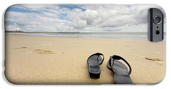 68047aca9 Empty Shoes iPhone 6 Case - Sandals On The Beach by John Short