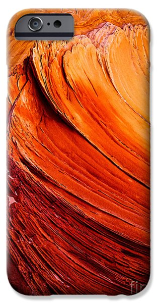 Harsh iPhone Cases - Sandstone Flakes iPhone Case by Inge Johnsson