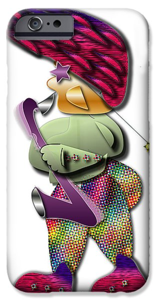 IPhone 6 Case featuring the digital art Sax Man by Marvin Blaine