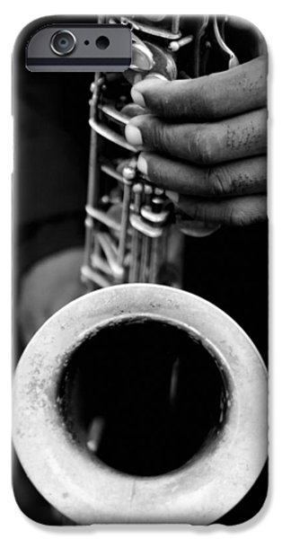 IPhone 6 Case featuring the photograph Sax Player by Dave Beckerman